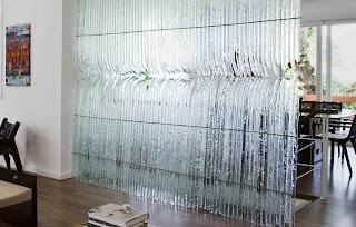 Ideias de decoração, decoração em vidro, parede de vidro