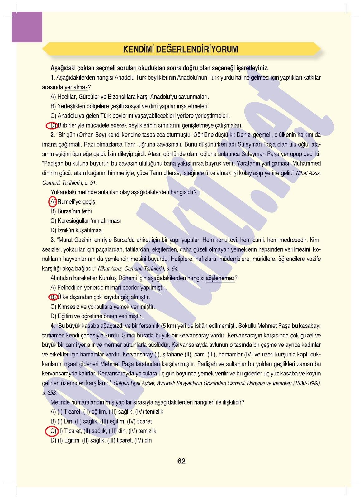 2013 2014 7sınıf Sosyal Bilgiler çalışma Kitabı Cevapları