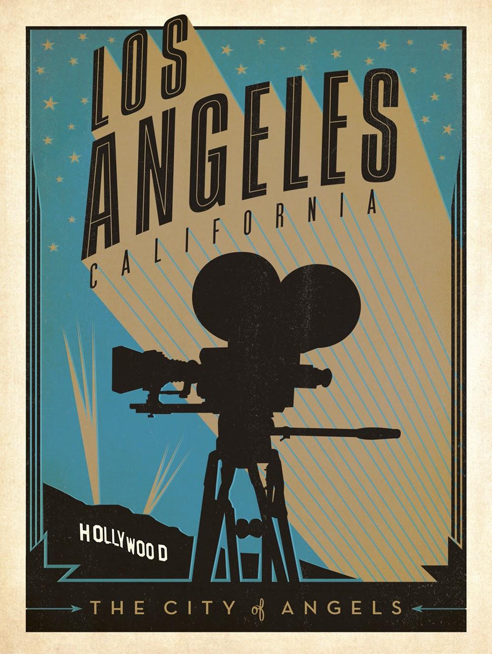 ART  ARTISTS Vintage Travel Posters Part - Los angeles posters vintage