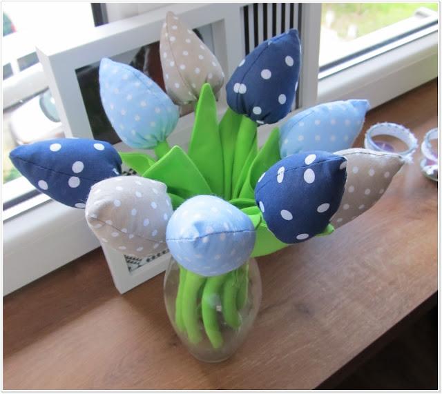 Tulipany z bawełny cz. III