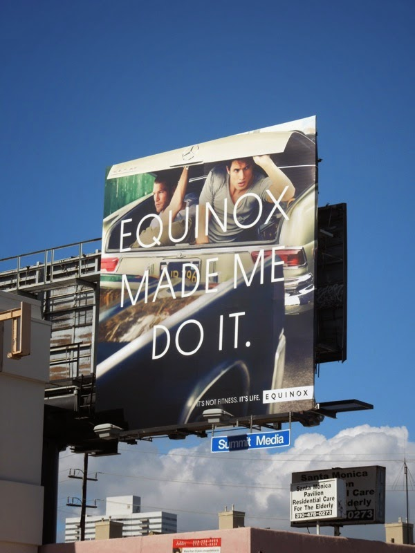 Equinox Made me do it car trunk billboard