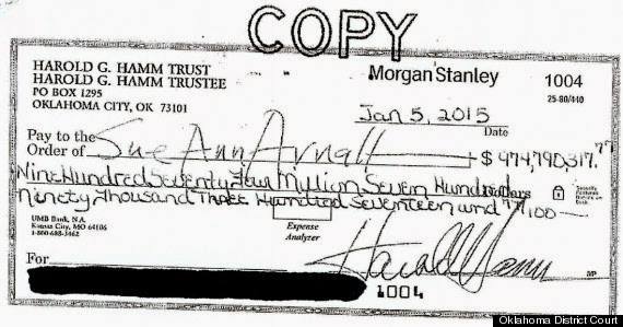 Wife Rejects $975 Million Divorce Check