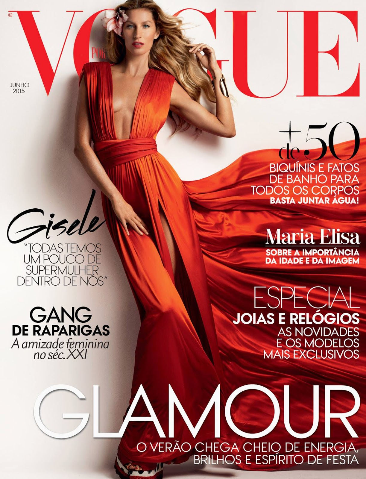 Actress, Producer, Supermodel @ Gisele Bundchen for Vogue Portugal June 2015