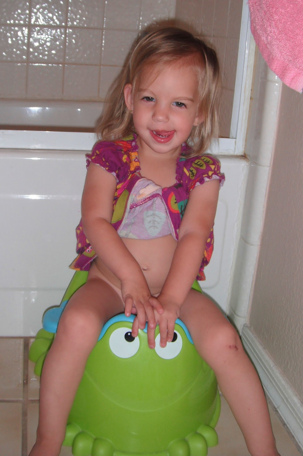 "She actually doesn't use her little potty anymore - she uses the ""big"