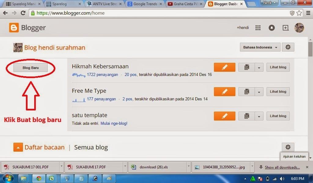cara buat blog baru