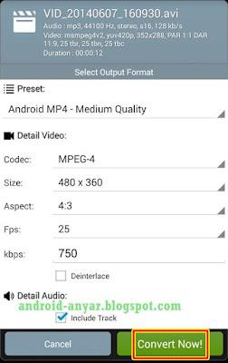trik konversi ubah format film dengan android langsung dengan aplikasi