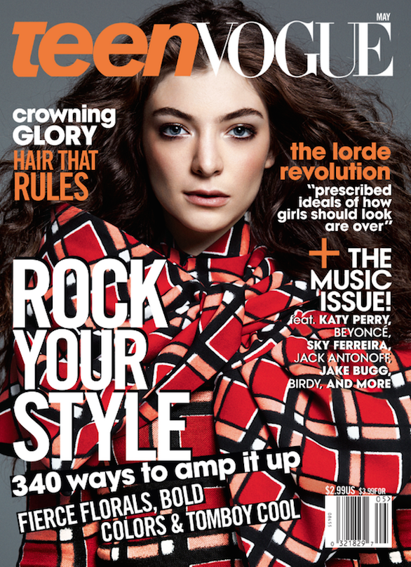 Lorde is the cover star of Teen Vogue May 2014