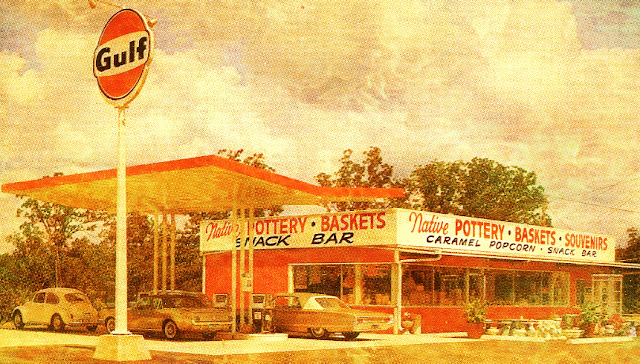 old time gas station photo edit