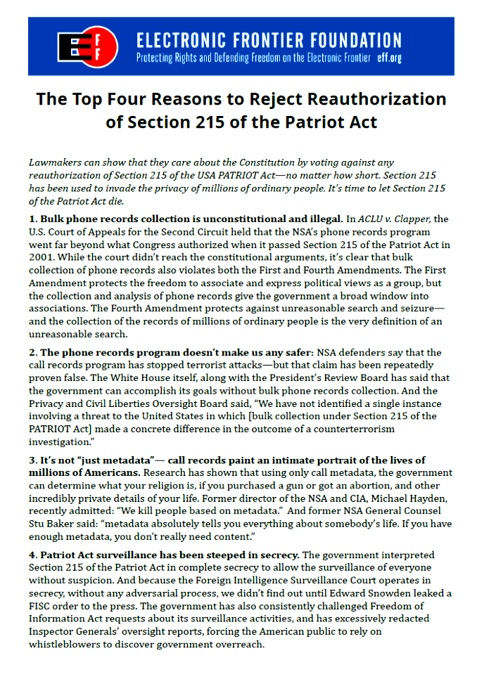 justification of survailence (the us patriot act) essay The patriot act, originally passed in 2001 to combat terrorism in the united states of america if zazi was to purchase a new phone to avoid surveillance.