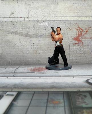Zombicide Nick Cop Bad Painted Survivor Walker Die Hard