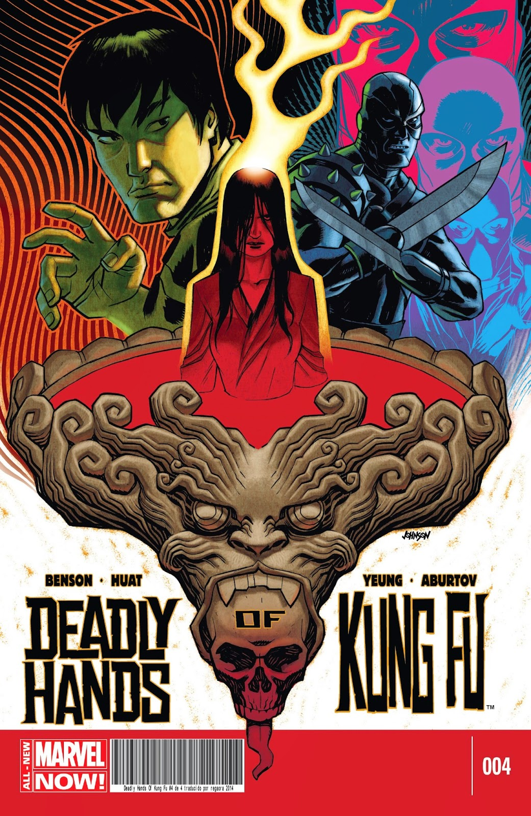 Portada de The Deadly Hands of Kung Fu 2014 miniserie 04