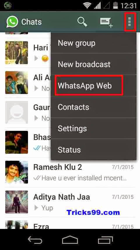 How To Use WhatsApp web  on your Pc/Laptop/Tablet - Web Browser.