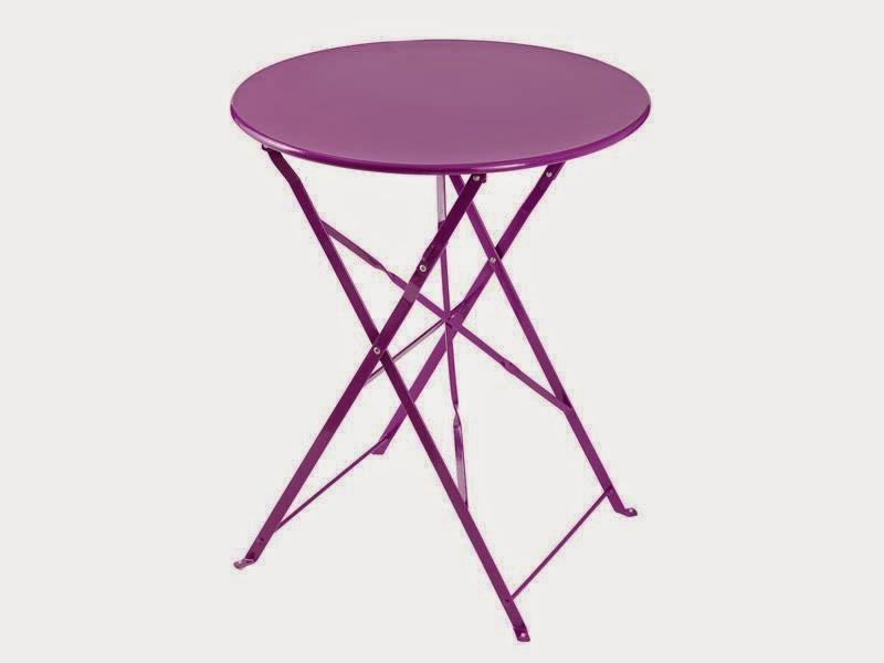 Muebles de forja muebles de exterior en colores serie barlesa - Velador plegable ...