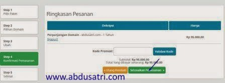 tips pembayaran perpanjangann domain idwebhost