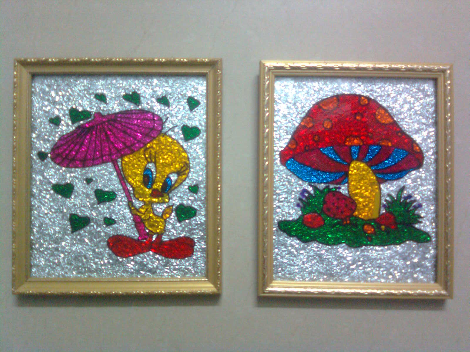 Dreams and creations the joy of glass painting for Simple glass painting pictures