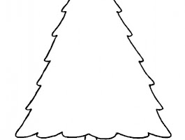 Outline Drawing Of Christmas Tree