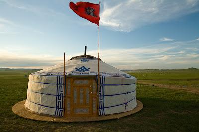 Living abroad - a Mongolian yurt