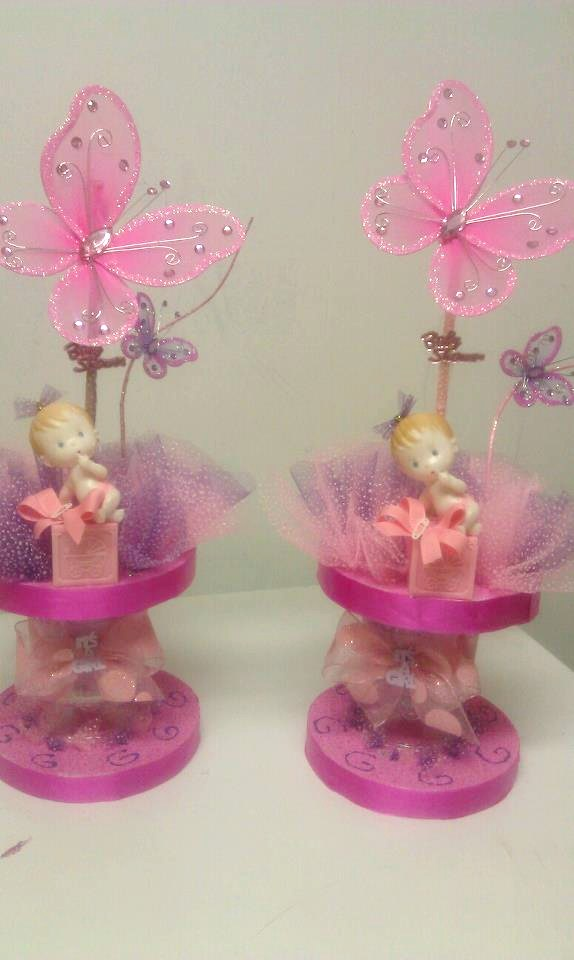 butterfly theme girl centerpieces