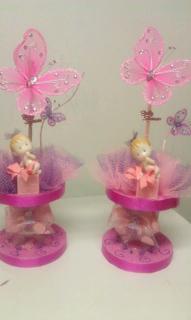 Butterfly theme girl centerpieces for Baby shower decoration butterfly