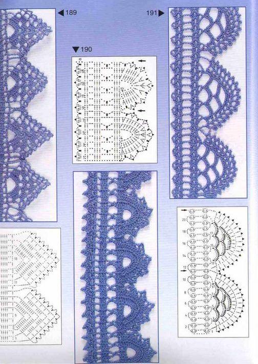 Solo puntos bordes puntillas crochet for Schemi uncinetto bordi