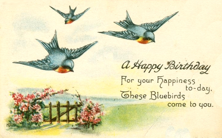 sweetly scrapped vintage birthday card image, Birthday card