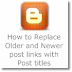 How to Replace Older and Newer post links with Post titles (for Blogger blogs)