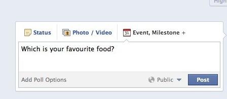 Facebook ask questions tab