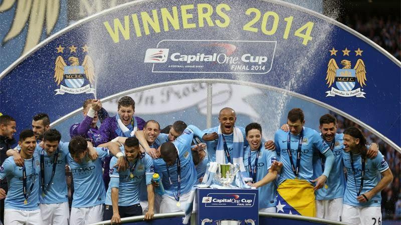 Foto Foto Manchester City Juarai Piala Liga Inggris Capital One 2014