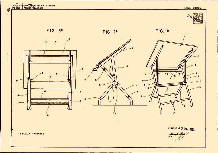 Patrimonio arquitect nico de asturias el tablero de Mesa para dibujo tecnico