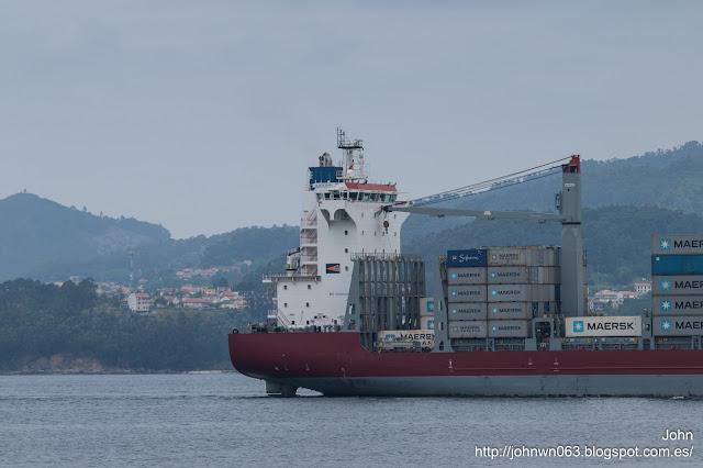 gluecksburg, container ship, puerto de Vigo