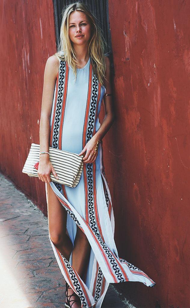 Street Style Slit Boho Maxi Dress