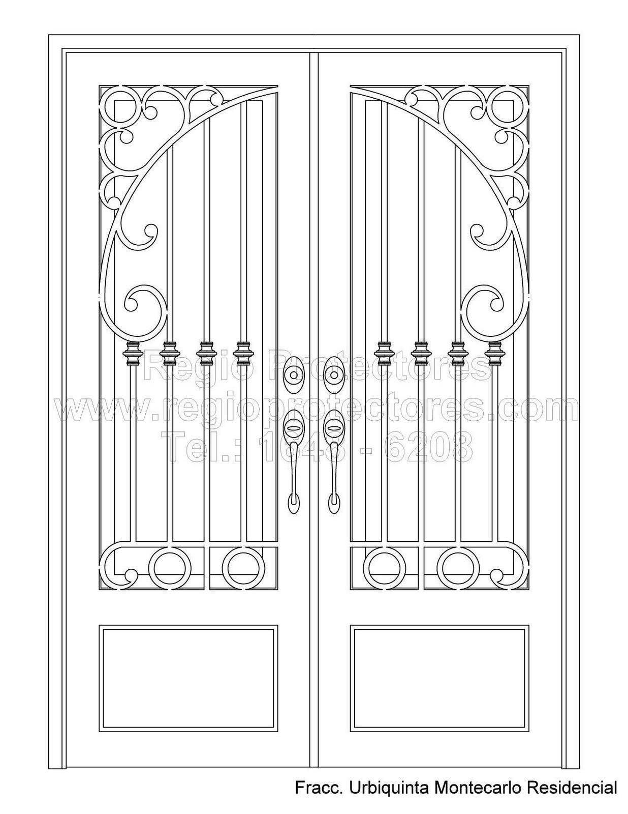 Puertas de hierro forjado barandales rejas portones - Puertas para escaleras ...