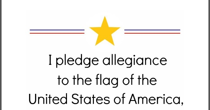 image about Pledge of Allegiance Printable identified as the crimson kitchen area: The Pledge of Allegiance (Cost-free printables