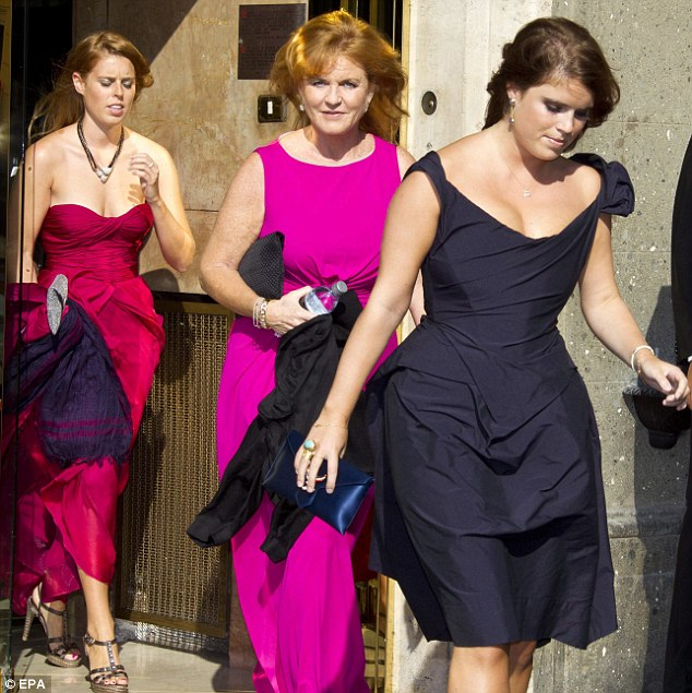 Nobel Profile: Fergie, Beatrice and Eugenie leaving for ... Fergie At Eugenia S Wedding