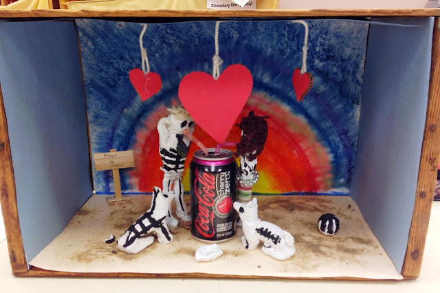 Day of the Dead Diorama with Clay and Shoe Box Middle School Art Lesson