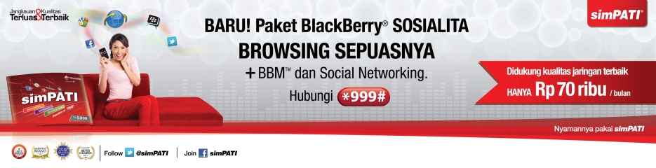 Paket Internet Telkomsel BlackBerry Sosialita