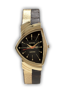 Hamilton Electric Ventura Black and Gold Two-Tone Band