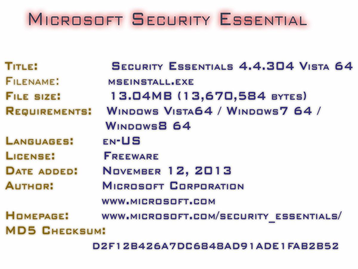 Microsoft security essential xp 32 bit free download - Security Essentials 4 4 304 Vista 64 Bit