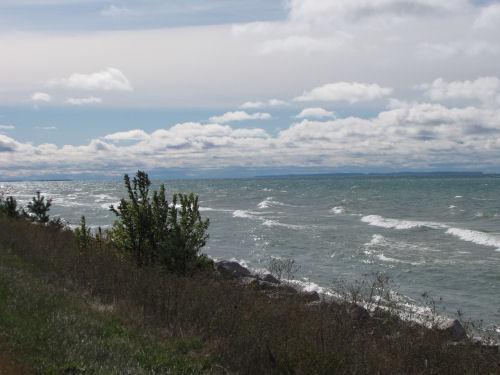 Lake Michigan at Brevort