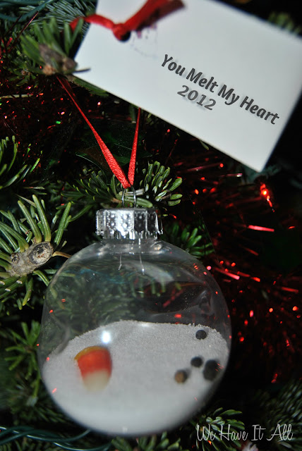 "Handmade Ornament ""You Melt My Heart"""