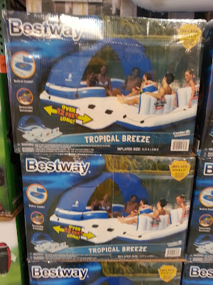 Bestway Tropical Breeze Floating Island for summer fun at the lake