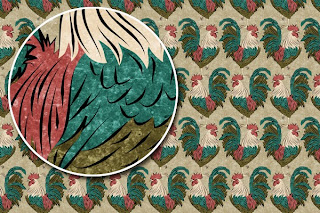 Rooster Grunge Surface Design