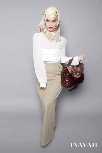 Model Rok Pensil maxi Wanita Berhijab