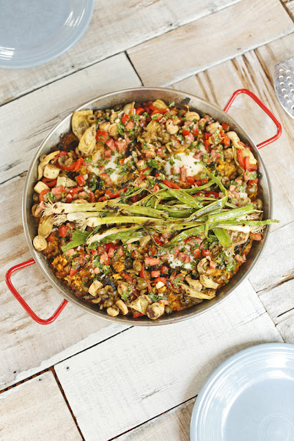 Vegetarian Paella on the Grill