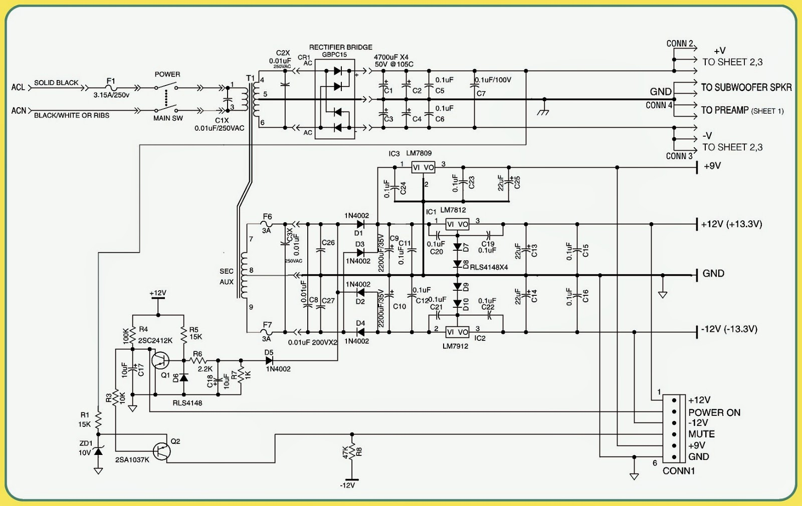 Subwoofer Power Supply Schematic - Find Wiring Diagram •