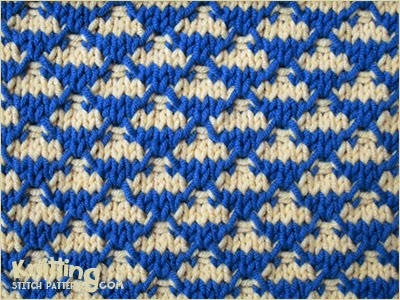 Quilted Check Knitting Stitch Patterns