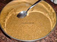 mezcla galletas sobre base molde