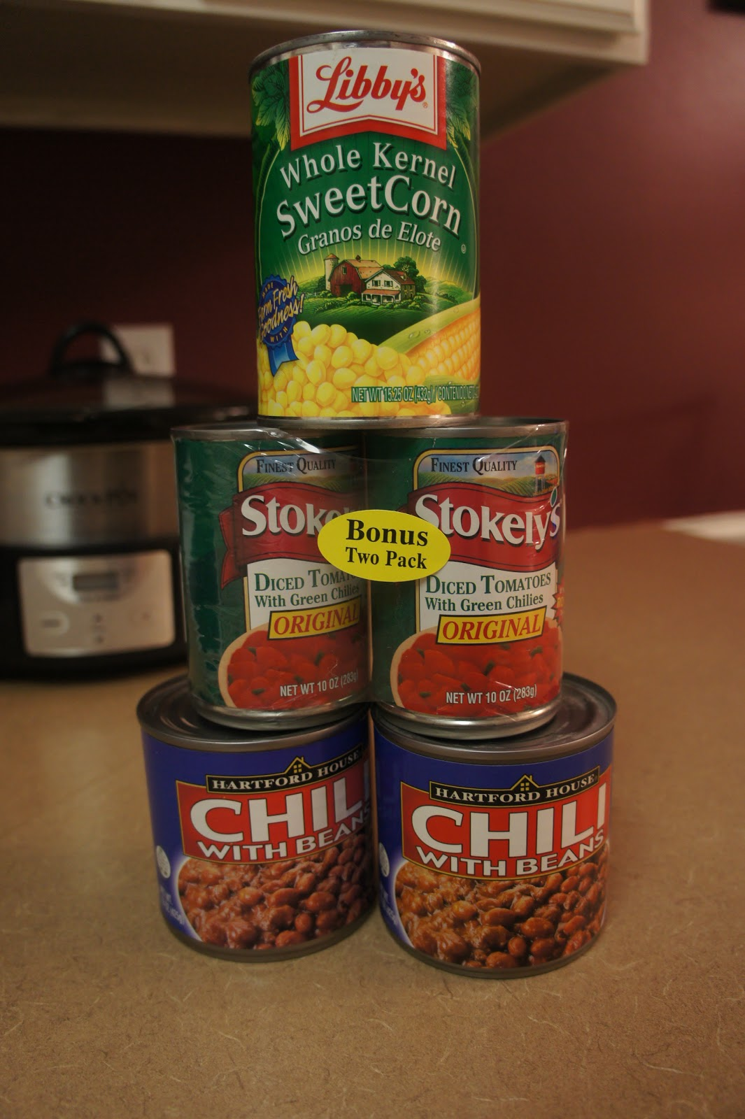 The Food Items From Dollar Store Needed For This Chili Recipe