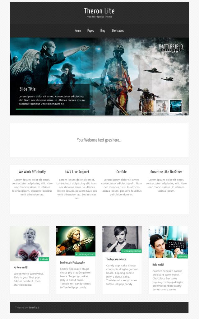Theorn lite Free Portfolio WordPress theme