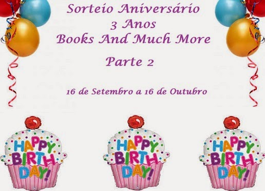 Promoção: 3 anos do Books And Much More.